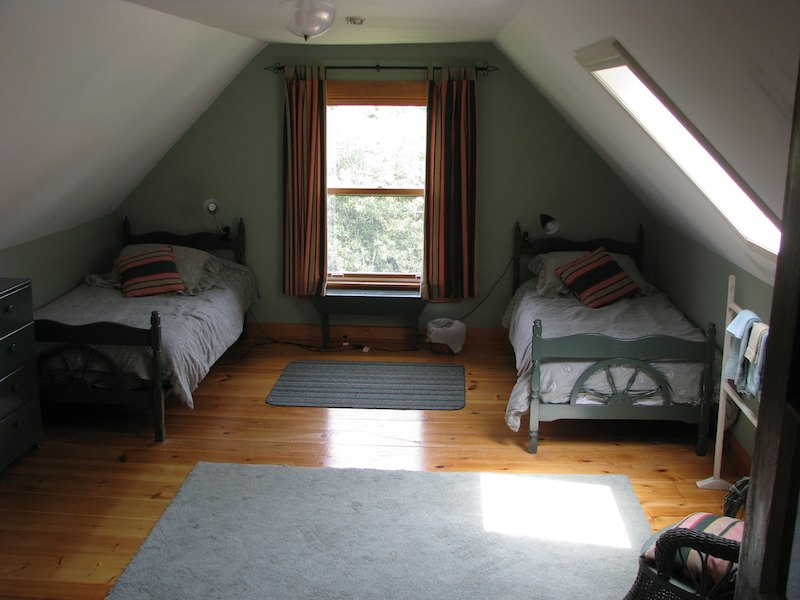 Bedroom in a warm oceanside vacation home near Mahone Bay Nova Scotia Canada